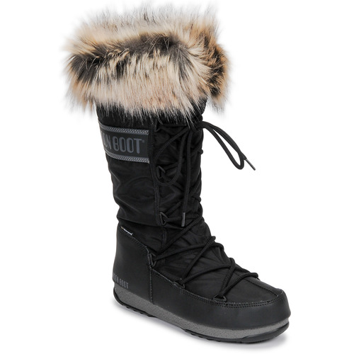 Shoes Women Snow boots Moon Boot MOON BOOT MONACO WP 2 Black