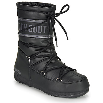 Shoes Women Snow boots Moon Boot MOON BOOT MID NYLON WP Black