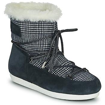 Shoes Women Snow boots Moon Boot MOON BOOT FAR SIDE LOW FUR TARTAN Marine