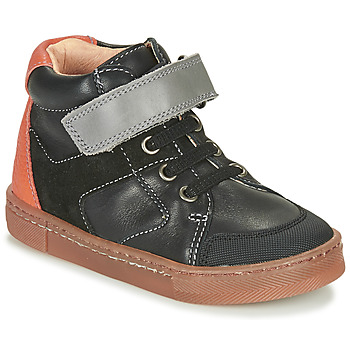 Shoes Boy Hi top trainers Babybotte KEN Black / Orange