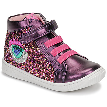 Shoes Girl Hi top trainers Agatha Ruiz de la Prada FLOW Purple / Pink