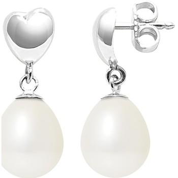 Watches Women Earrings Blue Pearls BPS K306 W OB White