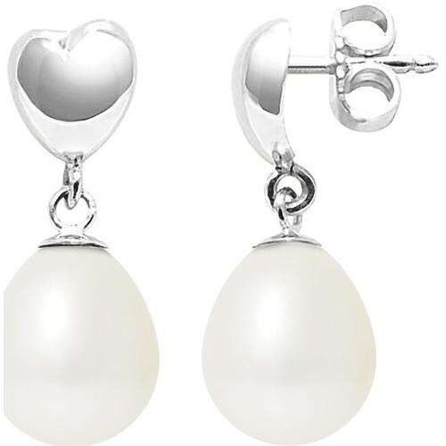 Watches & Jewellery  Women Earrings Blue Pearls BPS K306 W OB White