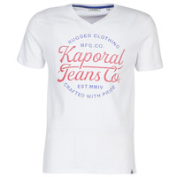 Clothing Men short-sleeved t-shirts Kaporal OBUCE White
