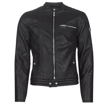 Clothing Men Leather jackets / Imitation leather Kaporal MELL Black
