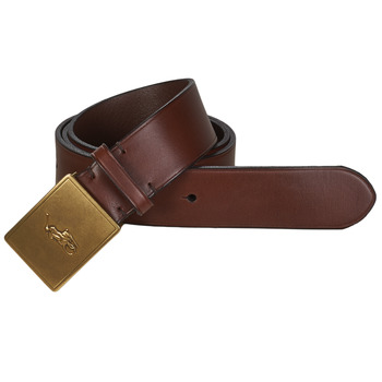 Clothes accessories Men Belts Polo Ralph Lauren PP PLAQUE-CASUAL-MEDIUM Brown