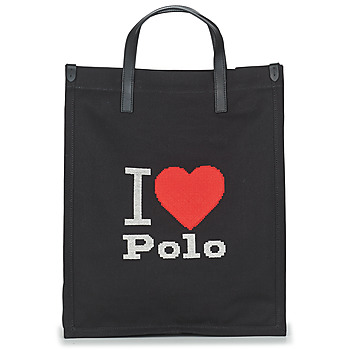 Bags Women Shopping Bags / Baskets Polo Ralph Lauren I HRT POLO CVS/LTHR Black