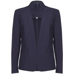 Clothing Women Jackets / Blazers Bestcoats Anastasia - Womens Short Spring Suit Jacket Blue