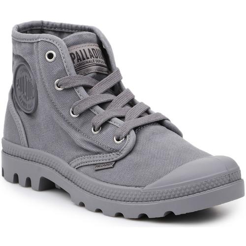 Shoes Men Hi top trainers Palladium Lifestyle shoes  US Pampa Hi Titanium 92352-011-M grey