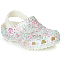 Shoes Girl Clogs Crocs CLASSIC GLITTER CLOG K White