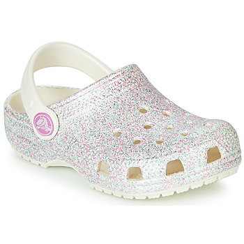 Shoes Children Clogs Crocs CLASSIC GLITTER CLOG K White