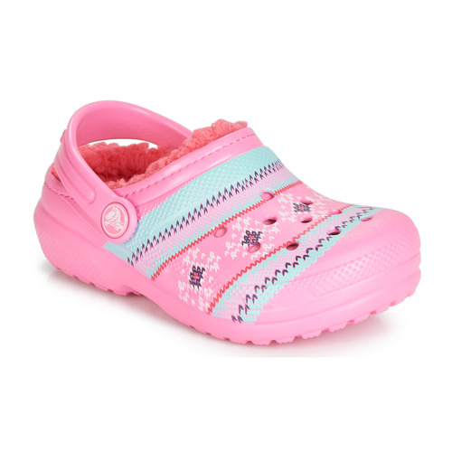 Shoes Girl Clogs Crocs CLASSIC PRINTED LINED CLOG K Pink