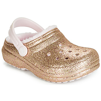 Shoes Girl Clogs Crocs CLASSIC GLITTER LINED CLOG K Gold / Pink
