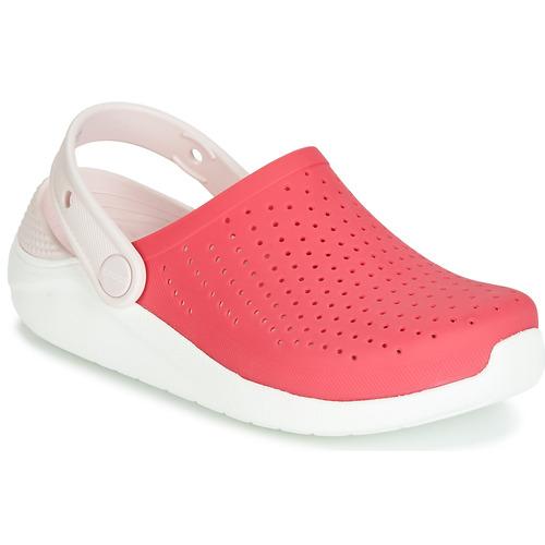 Shoes Girl Clogs Crocs LITERIDE CLOG K Red / White