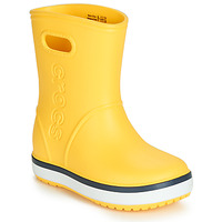 Shoes Children Wellington boots Crocs CROCBAND RAIN BOOT K Yellow / Marine