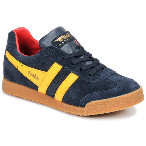 Shoes Children Low top trainers Gola HARRIER Marine / Yellow