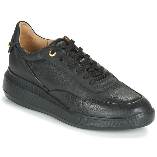 Shoes Women Low top trainers Geox D RUBIDIA Black