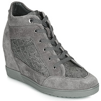 Shoes Women Hi top trainers Geox D CARUM Grey