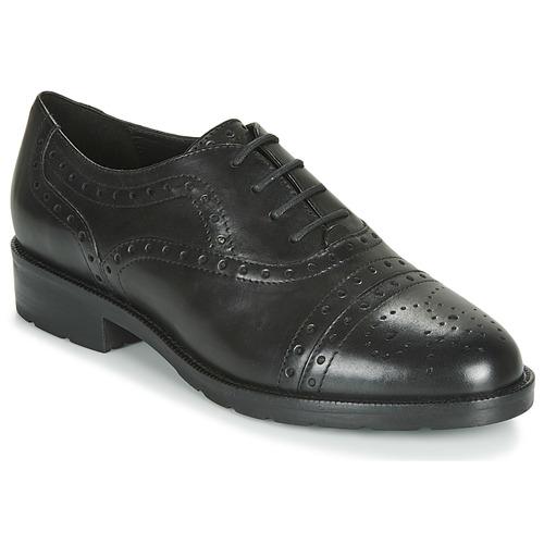 Shoes Women Derby Shoes Geox D BETTANIE Black