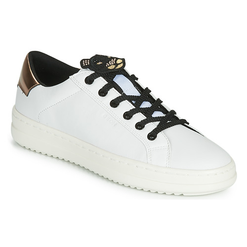Shoes Women Low top trainers Geox D PONTOISE White / Coppery