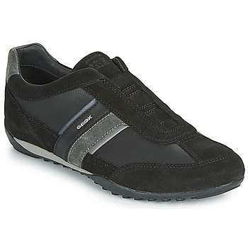 Shoes Men Low top trainers Geox U WELLS Black