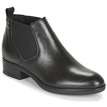 Shoes Women Mid boots Geox D FELICITY NP ABX Black