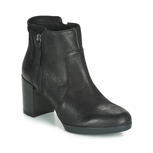 Shoes Women Ankle boots Geox D ANEEKA Black