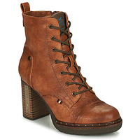 Shoes Women Ankle boots Mustang 1336502 Cognac