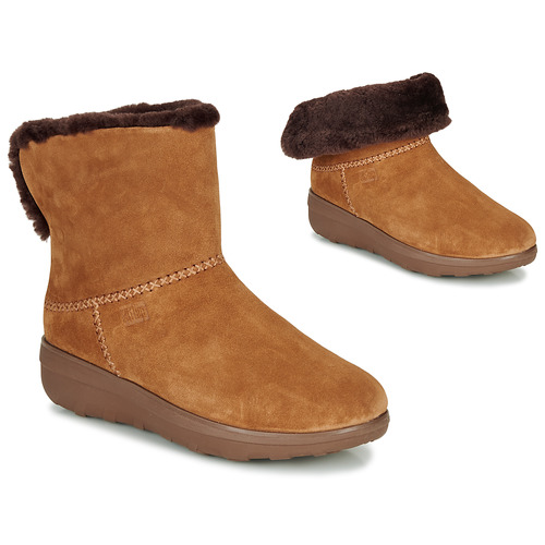 Shoes Women Mid boots FitFlop MUKLUK SHORTY III Brown
