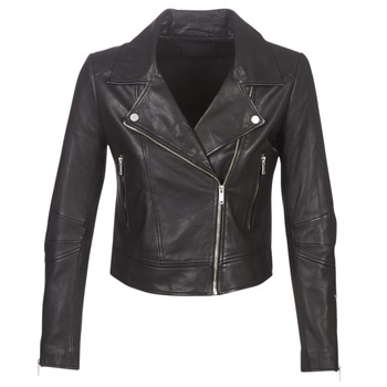 Clothing Women Leather jackets / Imitation leather Ikks BM48145-02 Black