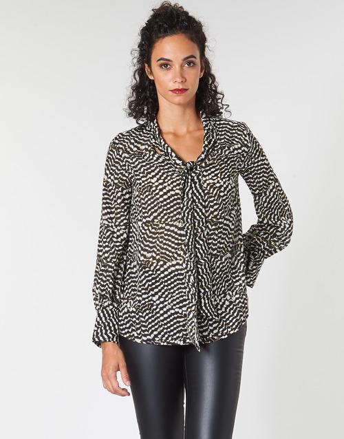 Clothing Women Tops / Blouses Ikks BP13065-02 Beige / Black