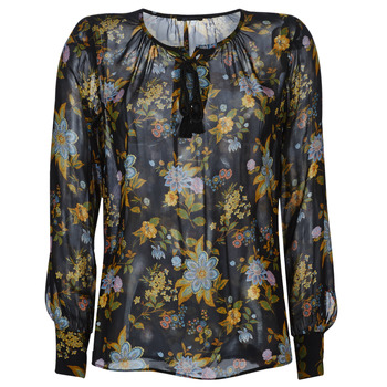 Clothing Women Tops / Blouses Ikks BP13125-02 Black / Multicolour