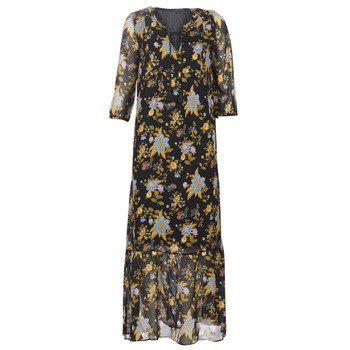 Clothing Women Long Dresses Ikks BP30195-02 Black / Multicoloured