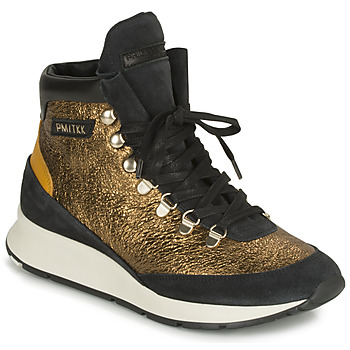 Shoes Women Hi top trainers Philippe Model MONTECARLO Gold / Black