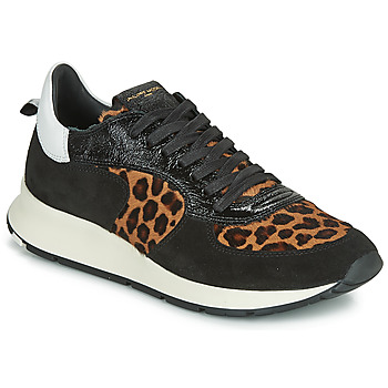 Shoes Women Low top trainers Philippe Model MONTECARLO Black / Leopard