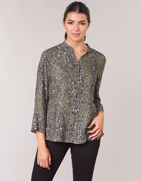 Clothing Women Tops / Blouses One Step CARLY CHEMISE Kaki / Multicoloured