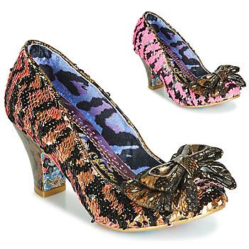 Shoes Women Heels Irregular Choice LADY BANJOE Black / Gold