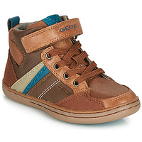 Shoes Boy Hi top trainers Geox JR GARCIA BOY Cognac / Blue