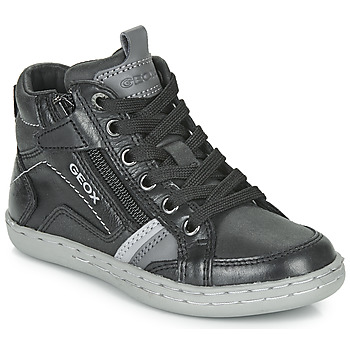 Shoes Boy Hi top trainers Geox JR GARCIA BOY Black / Grey