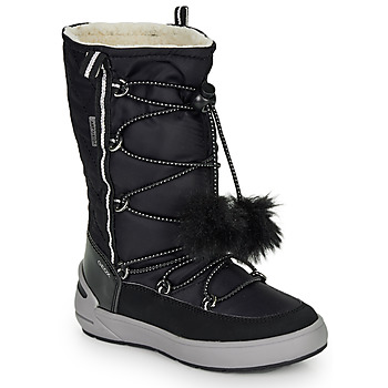 Shoes Girl High boots Geox J SLEIGH GIRL B ABX Black