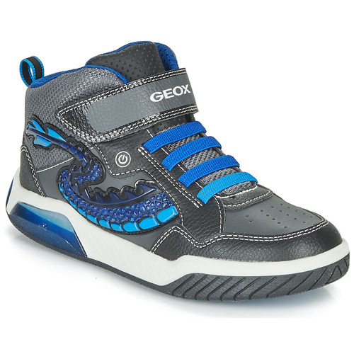 Shoes Boy Hi top trainers Geox J INEK BOY Black / Blue