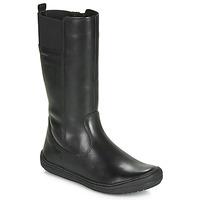 Shoes Girl High boots Geox J HADRIEL GIRL Black