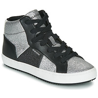 Shoes Girl Hi top trainers Geox J KALISPERA GIRL Black / Silver