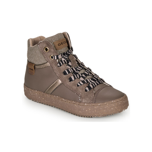Shoes Girl Hi top trainers Geox J KALISPERA GIRL Grey