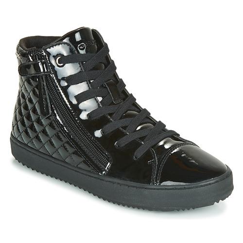 Shoes Girl Hi top trainers Geox J KALISPERA GIRL Black