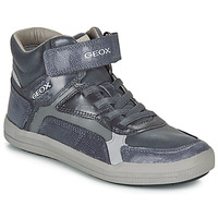 Shoes Boy Hi top trainers Geox J ARZACH BOY Blue / Grey