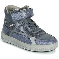 Shoes Boy Hi top trainers Geox J ARZACH BOY Blue / Grey