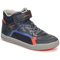 Shoes Boy Hi top trainers Geox J ARZACH BOY Blue / Orange