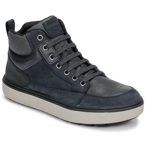 Shoes Boy Hi top trainers Geox J MATTIAS B BOY ABX Blue / Black
