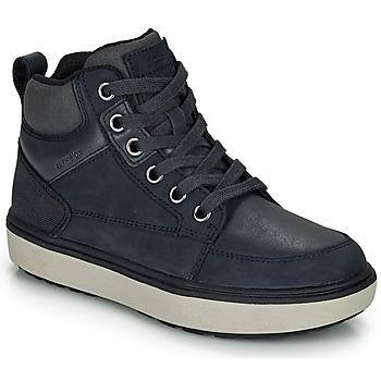 Shoes Boy Hi top trainers Geox J MATTIAS B BOY ABX Blue / Black / Waterproof